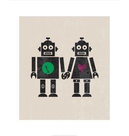Vivid Print Bee Waeland | Robot Couple