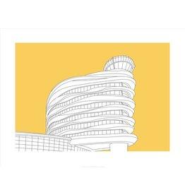 Vivid Print Bee Waeland | EIA Tower Metal Framed Print