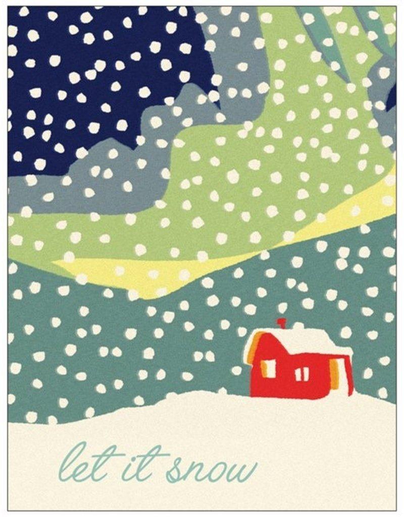 Vivid Print Let It Snow