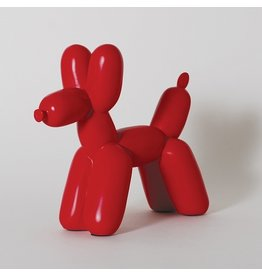 Big Top Ceramic Balloon Dog Bookend - Red