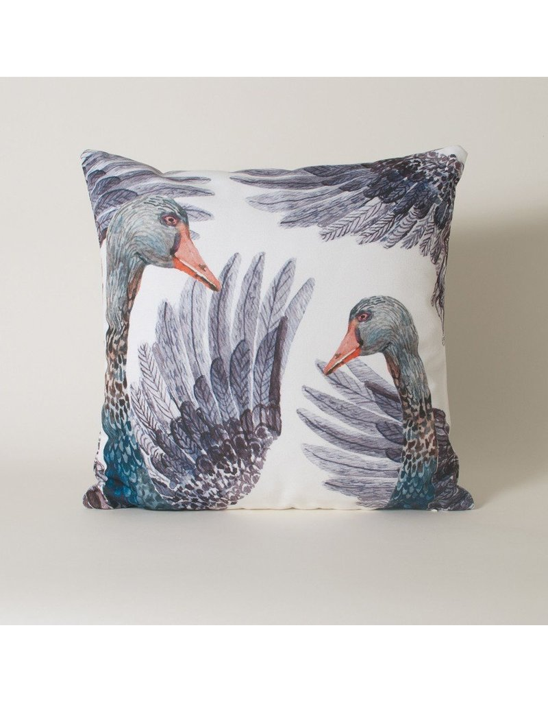 Imm The Dancing Swans Black Swan Cushion