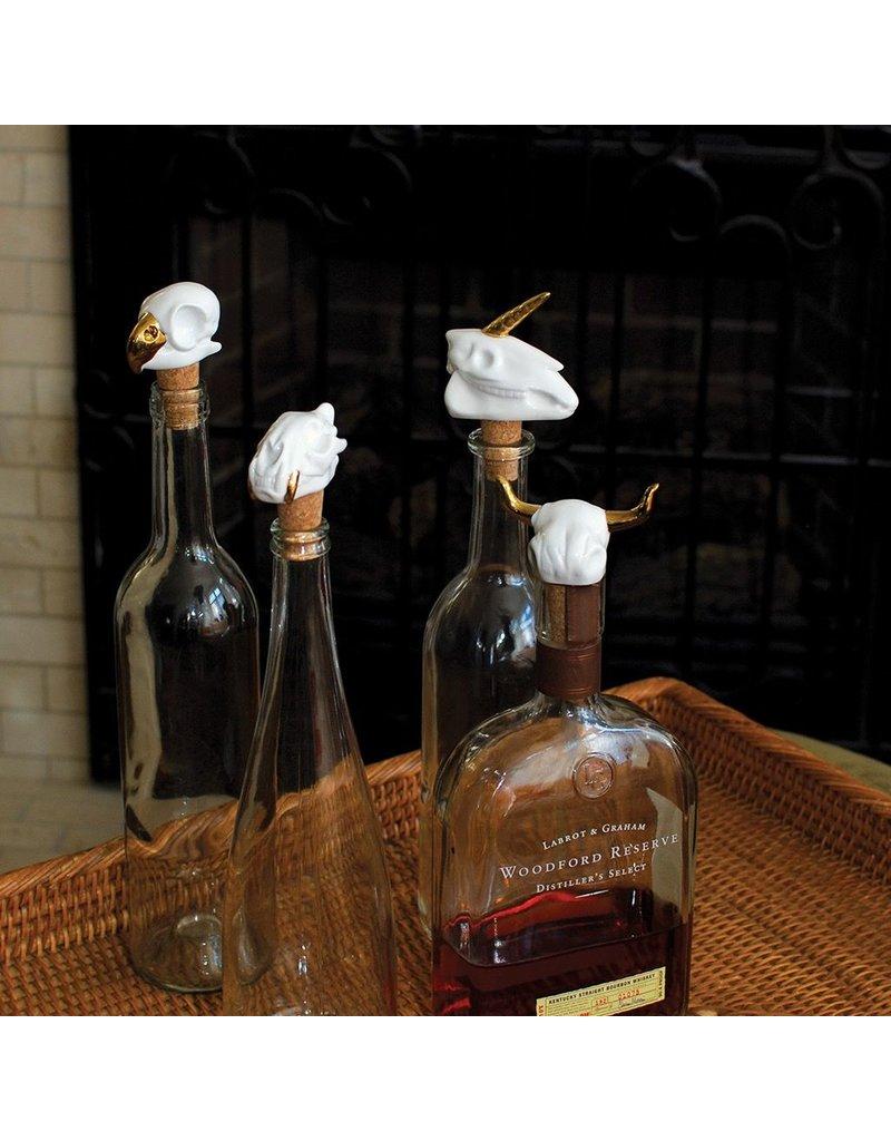 Drink to Life Cattle Skull Wine Stopper