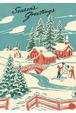 Cavallini Winter Wonderland Wrap