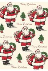 Cavallini Merry Christmas Santa Wrap