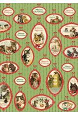 Cavallini Christmas Cats Wrap