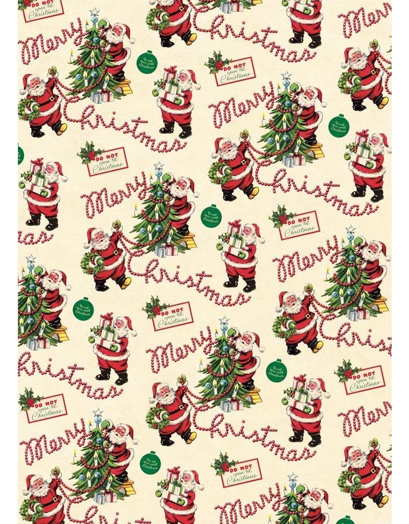 Cavallini Vintage Santa Wrap