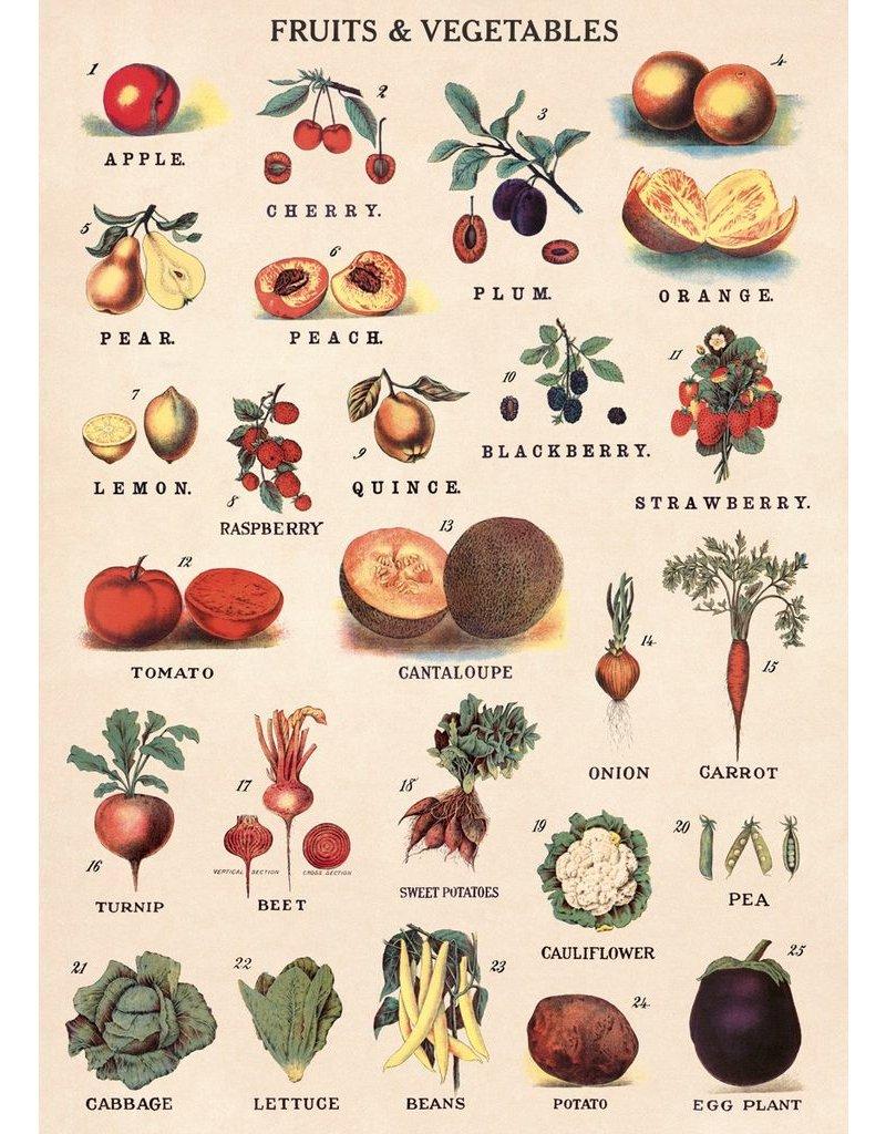 Cavallini Fruit & Vegetables Wrap