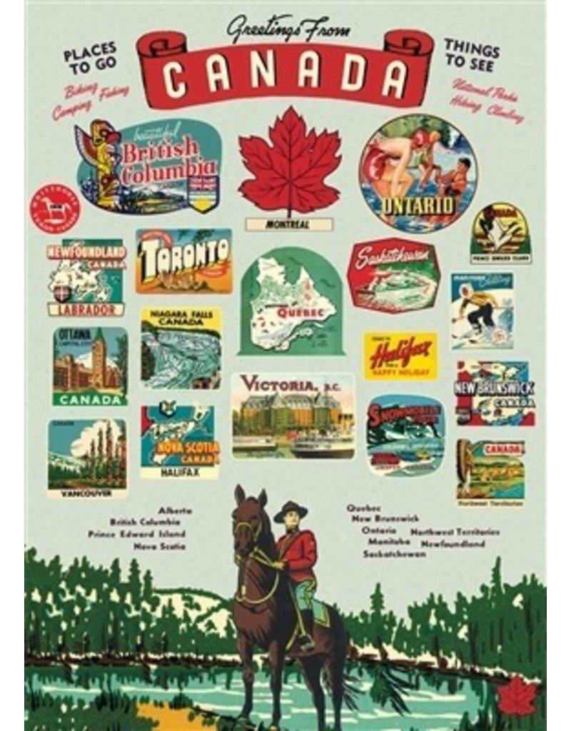 Cavallini Canada Wrap