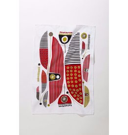 Mezzaluna Canoes Tea Towel