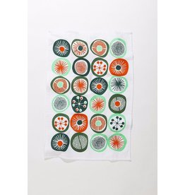 Mezzaluna Retro Dot Tea Towel