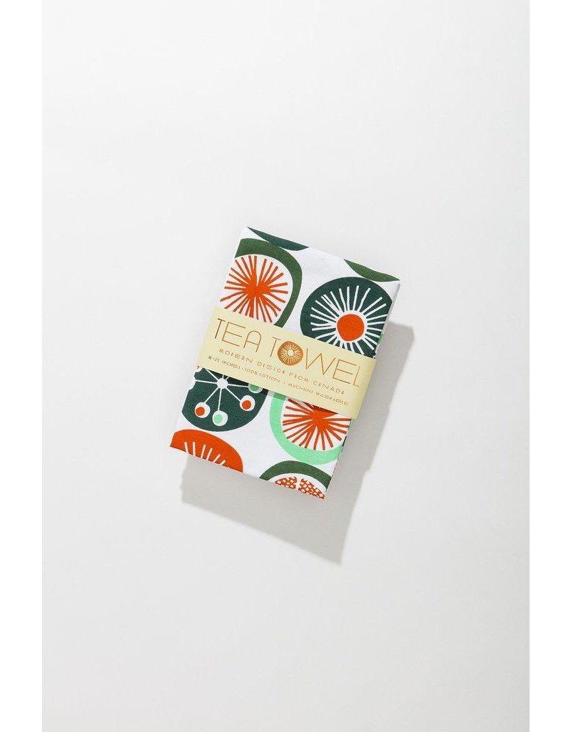Mezzaluna Retro Dot Tea Towel