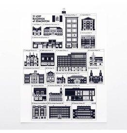 Vivid Print Raymond Biesinger | 21 Lost Buildings of Edmonton