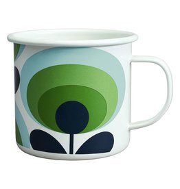 Wild & Wolfe Enamel Mug 70s Flower Oval Apple 500ml