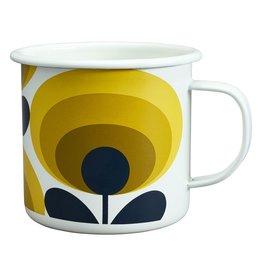 Enamel Mug 70s Flower Oval Dandelion 500ml