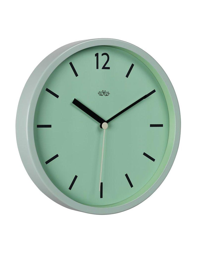 "Wall Clock Swedish Green 12"""