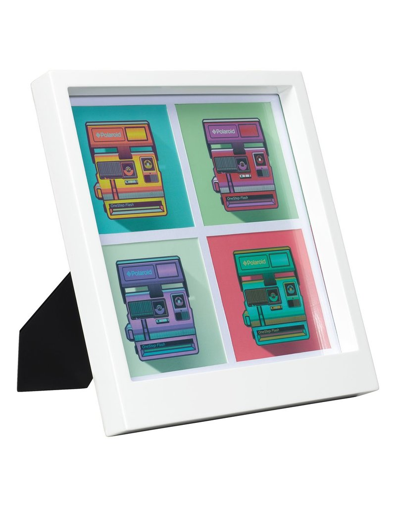 Polaroid Desk & Wall Photo Frame Small 4 Photos White