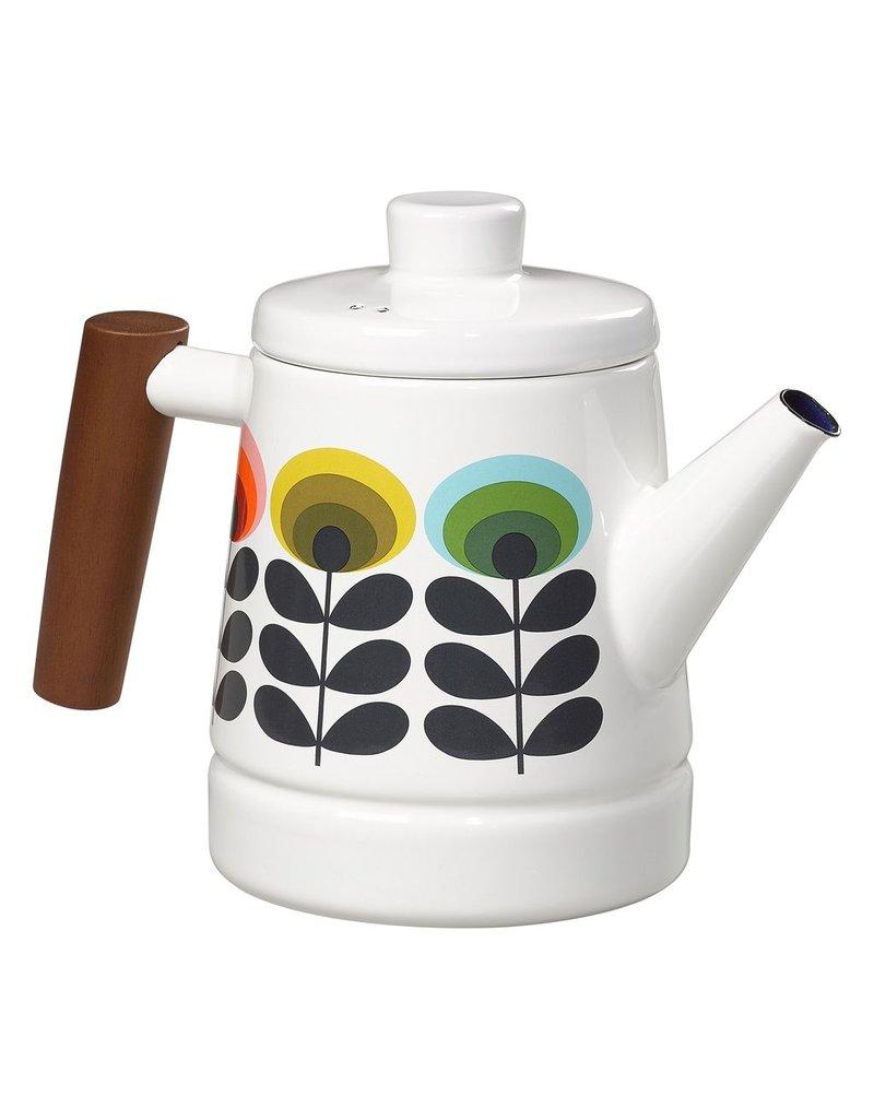 Enamel Teapot 1.6L 70'S Oval Flower Multi