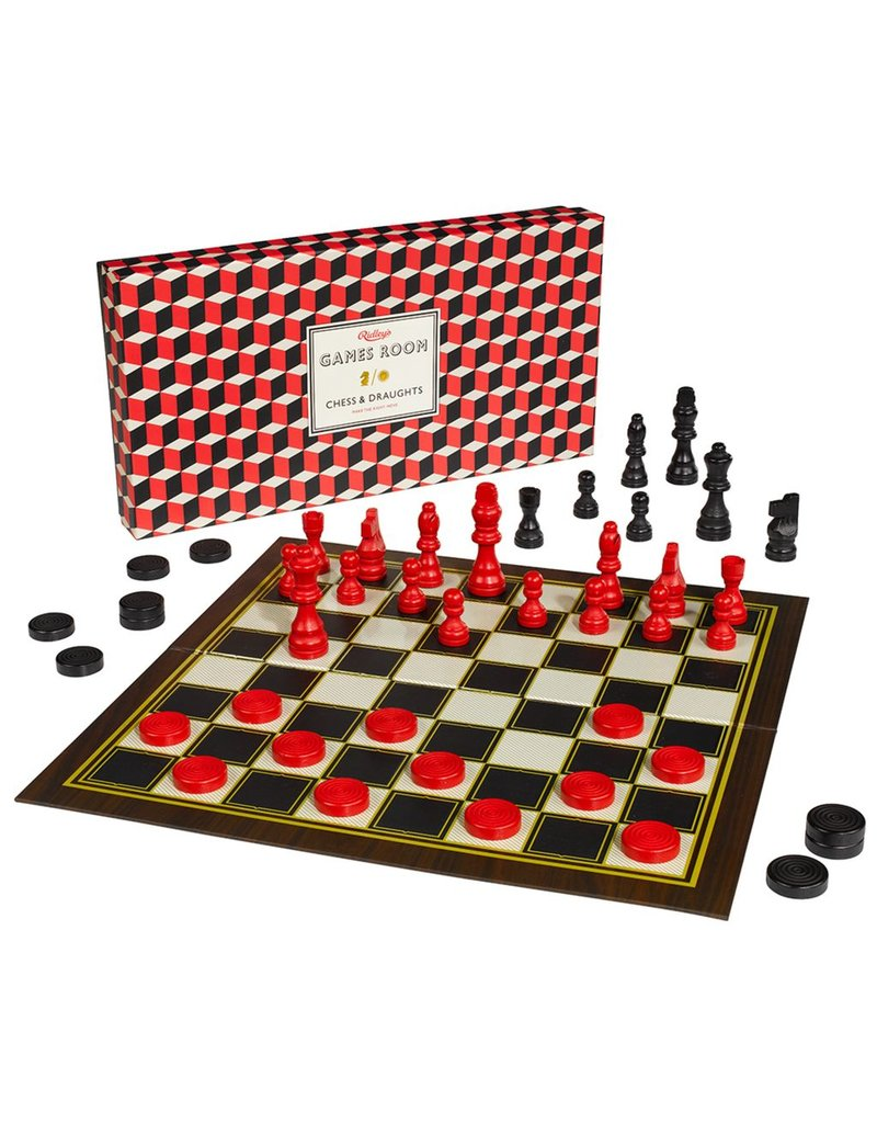 Games Room; Chess And Checkers Set