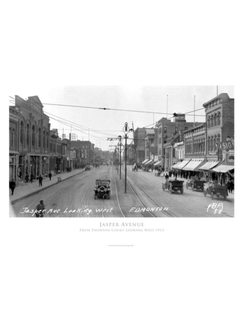 Jasper Avenue Looking West 1913  Poster