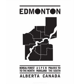 Bee Waeland | Edmonton Map Black