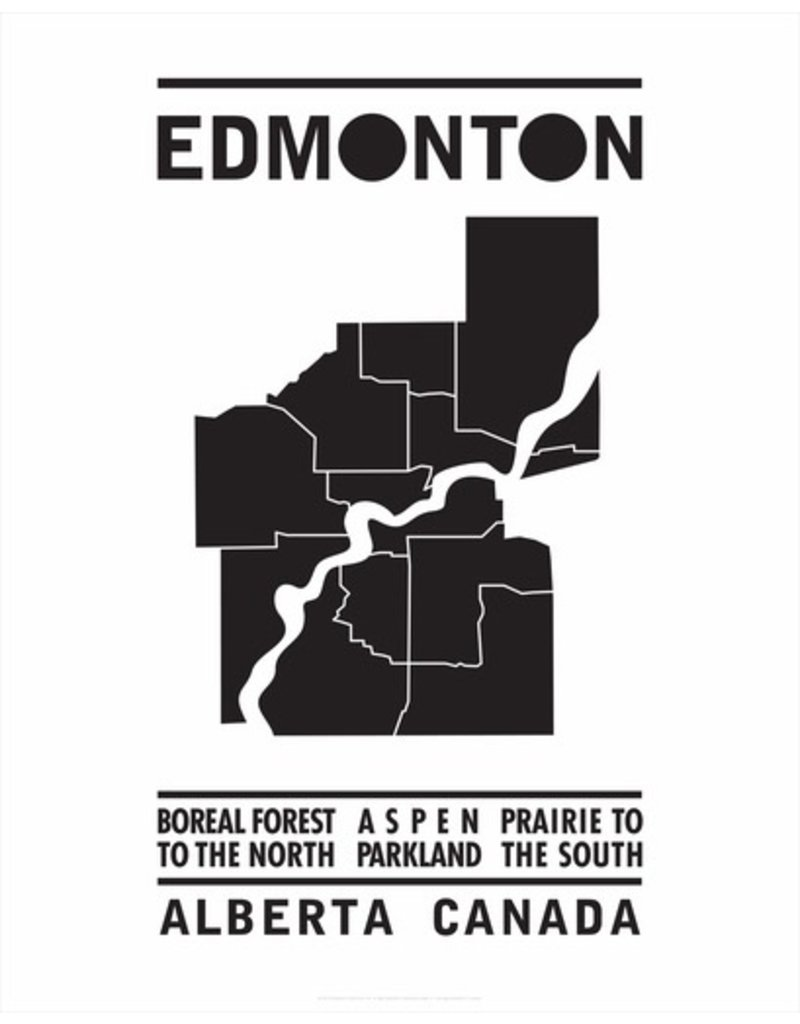 Bee Waeland | Edmonton Map Black