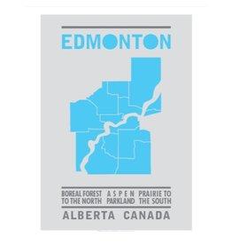 Bee Waeland | Edmonton Map Mid-Cyan