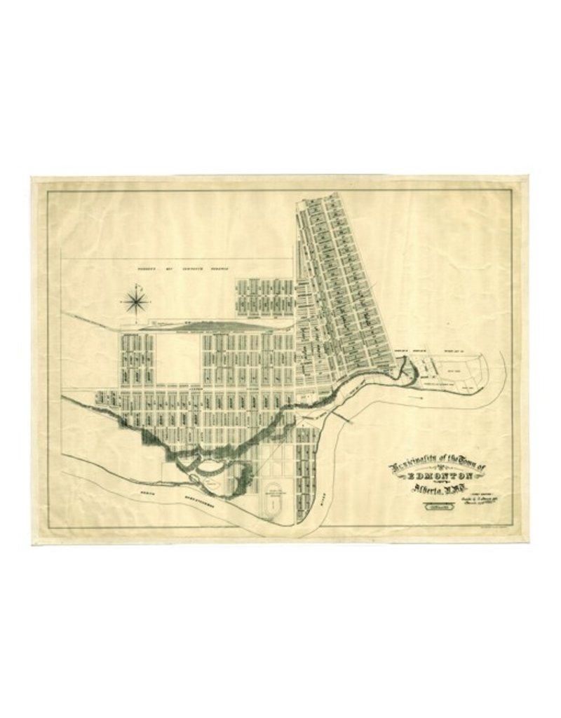 Town of Edmonton Map 1908