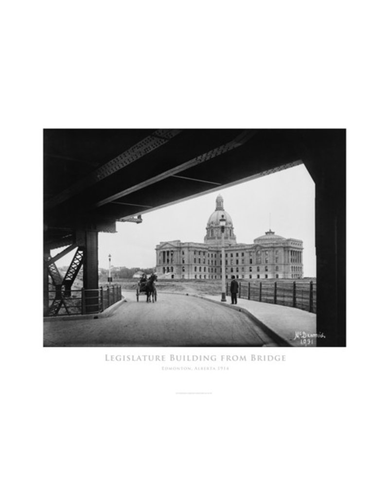 Legislature Building from Bridge 1914 Poster