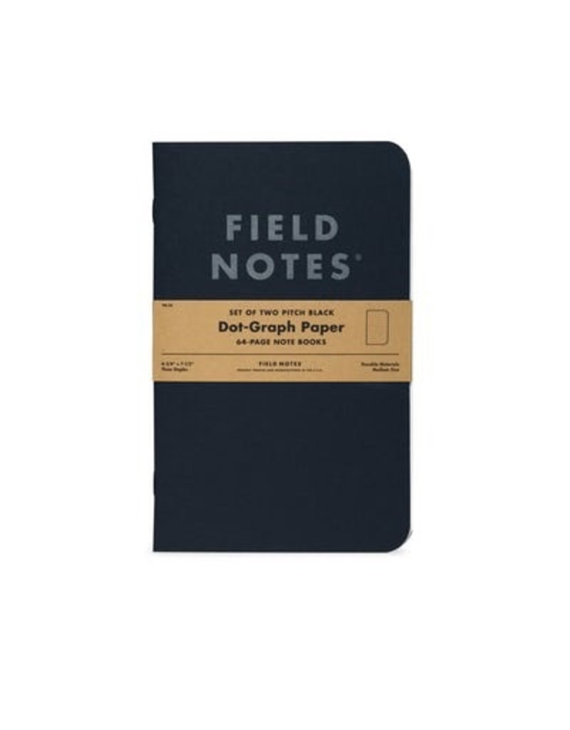 Field Notes Pitch Black Ruled Large