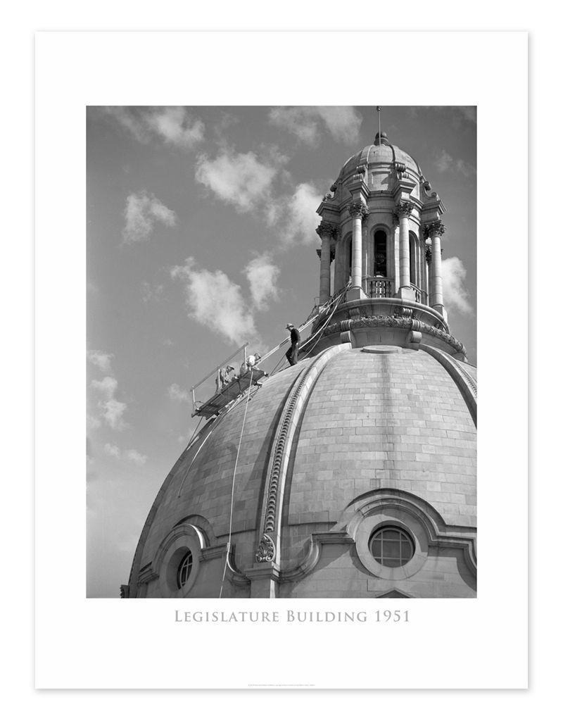 Legislature Building Dome 1951 Poster