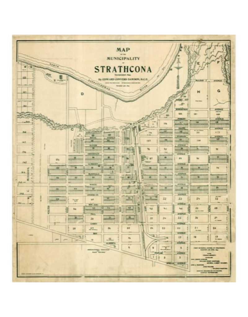 Map of Strathcona 1899