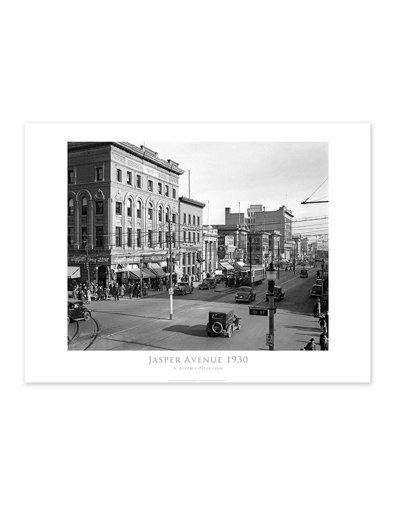 Jasper Avenue Looking East 1930 Poster