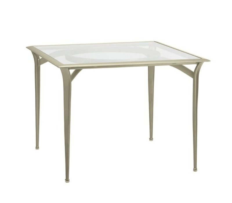 FLIGHT 36 x 36 BISTRO DINING TABLE, GLASS OR PERFORATED TOP