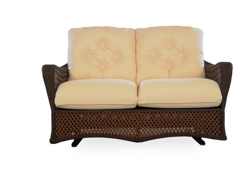 LLOYD FLANDERS GRAND TRAVERSE LOVE SEAT GLIDER WITH CUSHIONS