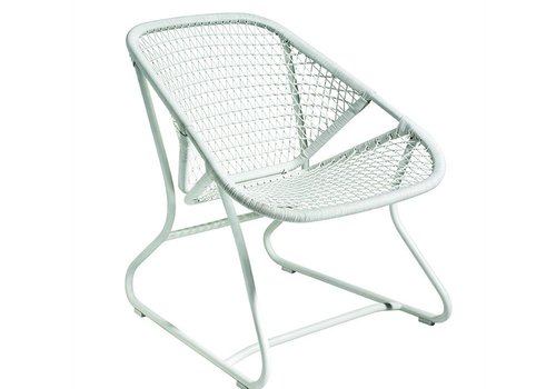 FERMOB SIXTIES LOW ARMCHAIR- COTTON WHITE FRAME / WHITE SEAT