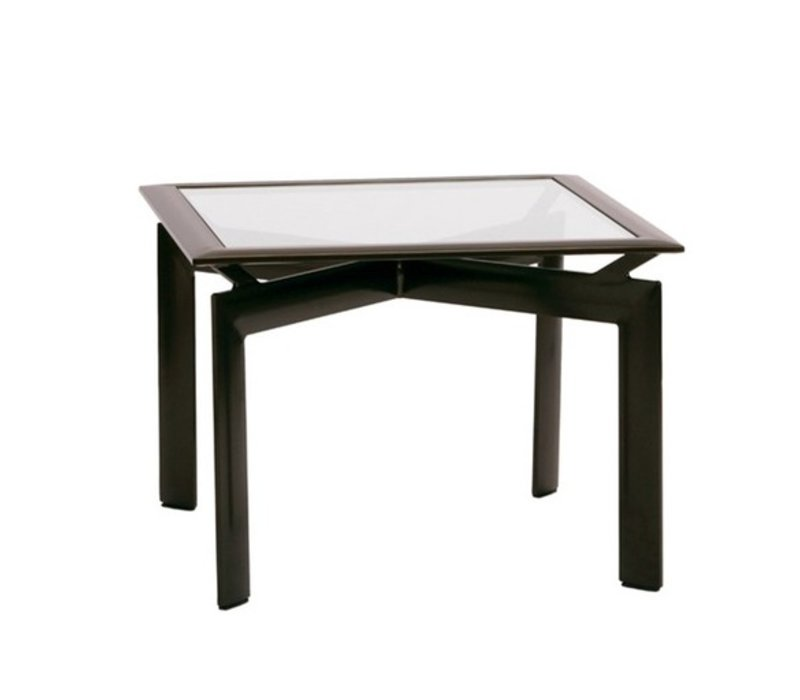 Charmant PARKWAY 29 INCH CORNER TABLE WITH GLASS TOP