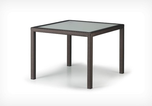 DEDON PANAMA 39 SQUARE DINING TABLE BRONZE