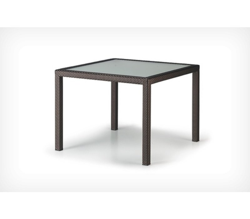 PANAMA 39 SQUARE DINING TABLE BRONZE