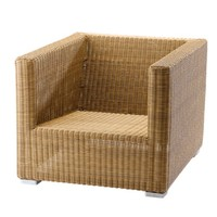 CHESTER LOUNGE CHAIR IN NATURAL CANE-LINE FIBRE