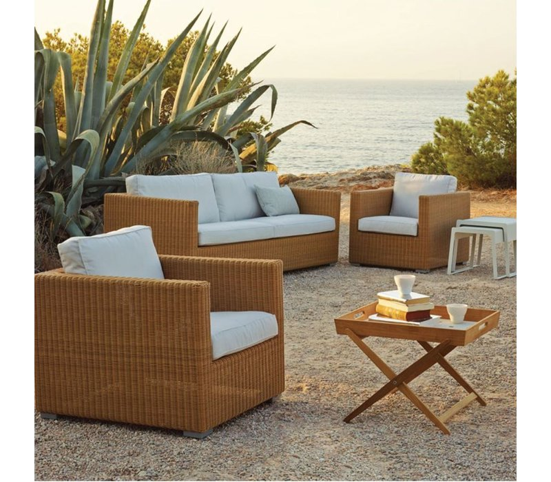 CHESTER LOUNGE CHAIR NATURAL, CANE-LINE FIBRE