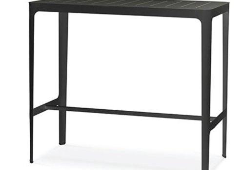 CANE-LINE CUT BAR TABLE , BLACK ALUMINUM