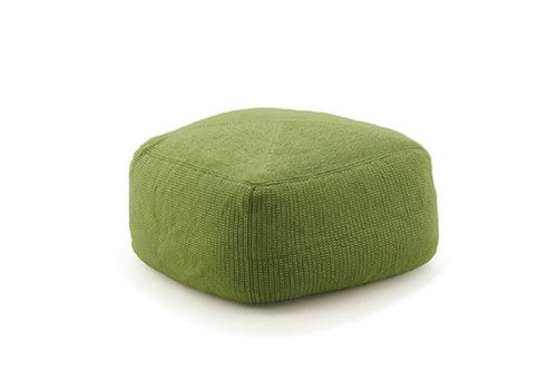 CANE-LINE DIVINE FOOTSTOOL IN GREEN