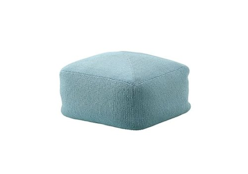 CANE-LINE DIVINE FOOTSTOOL - TURQUOISE