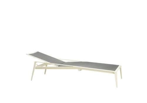 BROWN JORDAN STILL ADJUSTABLE CHAISE WITH PARABOLIC SLING