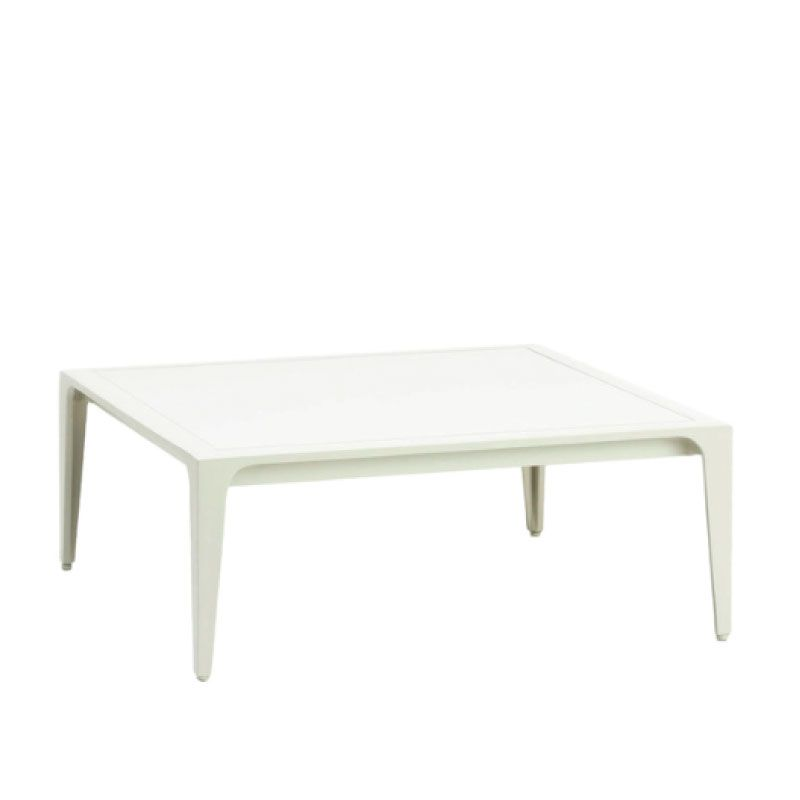 Still 28 Inch Square Occasional Table With Solid Aluminum Top
