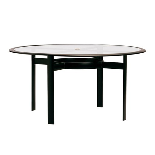 BROWN JORDAN PARKWAY 54 ROUND UMBRELLA DINING TABLE