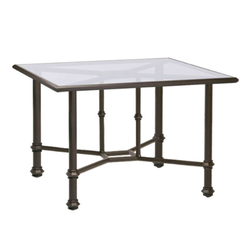 BROWN JORDAN CAMPAIGN 42 SQUARE DINING TABLE