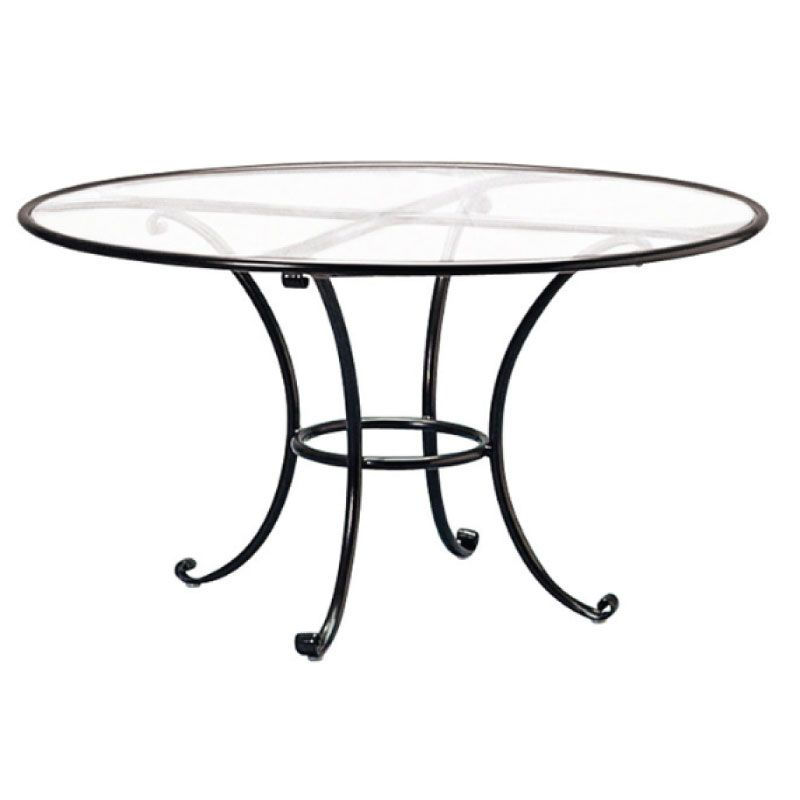 BROWN JORDAN ROMA 48 ROUND DINING TABLE WITH ALUMINUM TOP (NO UMBRELLA HOLE)