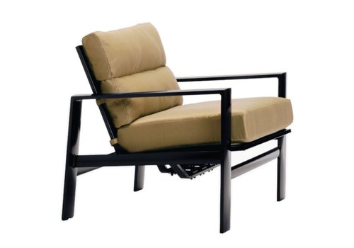 BROWN JORDAN PARKWAY CUSHION MOTION LOUNGE CHAIR WITH GRADE A FABRIC
