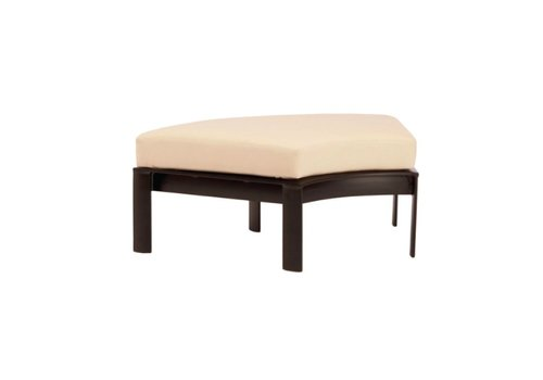 BROWN JORDAN PARKWAY CURVILINEAR 60 DEGREE OTTOMAN WITH GRADE A FABRIC